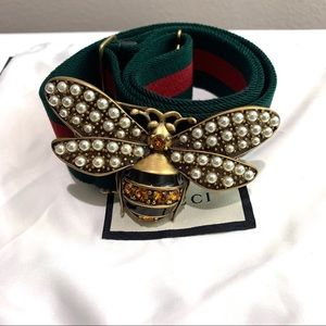 Gucci Web belt with bee, Brand new 100% Authentic
